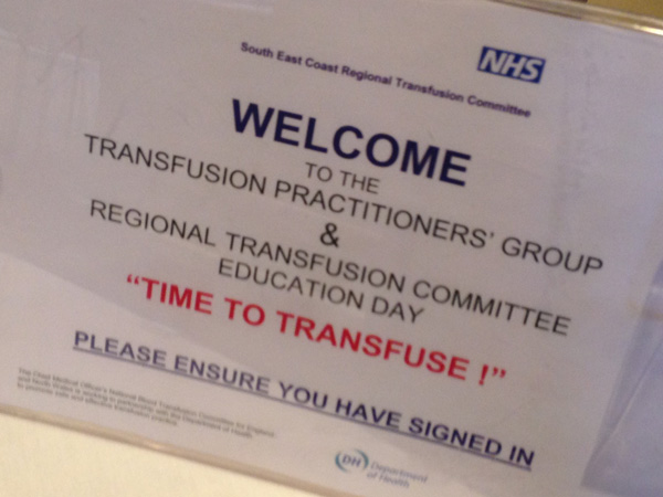 South East Coast Regional Transfusion Committee meeting - Maidstone